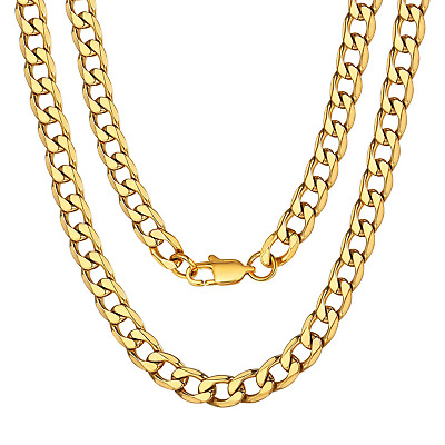 Franco Chain Gold Plated 20 inch Choker Mens Jewelry