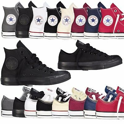 2019 Converse Unisex Chuck Taylor Classic All Star Lo OX Hi Tops Canvas Trainers