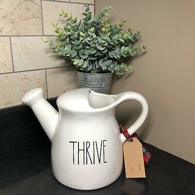 """Rae Dunn Water Can """"THRIVE"""" - HTF SPRING 2018 LL Large Letter"""