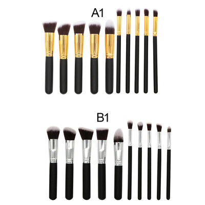 10Pcs Pro Makeup Brushes Set Foundation Powder Eyeshadow Eyeliner Lip Brush Tool
