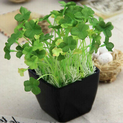 Artificial Plant Flowers Fake Leaves Green Grass Wedding Party Home Garden Decor