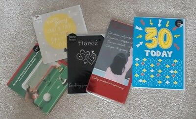 5 different Greetings cards from M&S Marks & Spencer incl. thank you teacher NEW