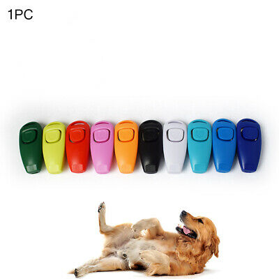 Dog Training Clicker & Whistle Obedience Pet Trainer Click Button