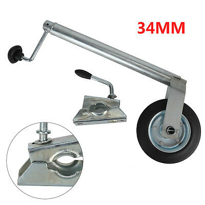 New 34Mm Jockey Wheel With Clamp For Caravan Trailer Plant Container UK