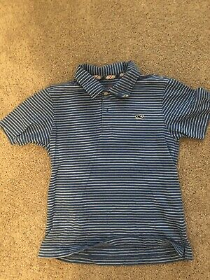 a8e3ba4f0 VINEYARD VINES KIDS Boys Performance Polo Feeder Stripe Azure Blue ...