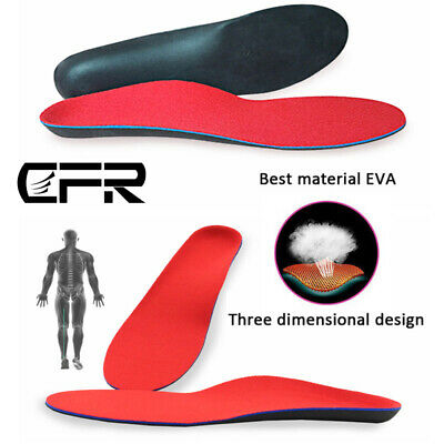 Orthotic Shoe Insoles Arch Support Inserts Plantar Fasciitis Pain Relief Sports