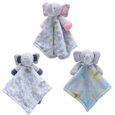 blue elephant just4babysgifts Personalised Baby elephant Comforter Blankie//Blanket Gift Quality Gift soft T