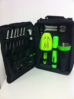 Bag Barman Equipment Barman -bartending Bag Kit Barman Top Green Fluo