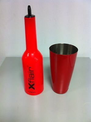 Flair Bottle Boston Red Tin Red Barman Bartender Tools 01