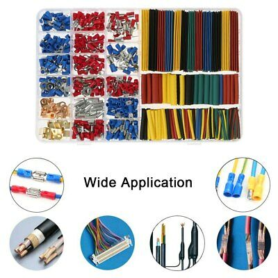 Electrical Terminals Crimp Wire Heat Shrink Tubing Sleeving Kit Car Connectors