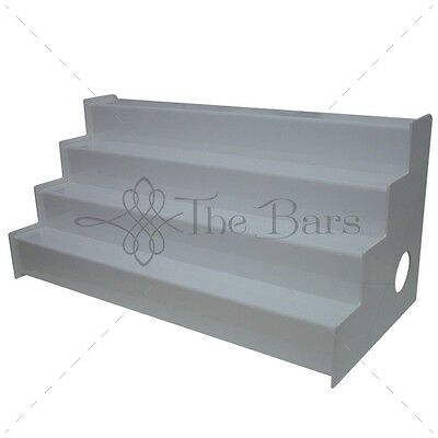 Wine Rack Display White Bright 4 Steps to LED Barman Ld001 CM100