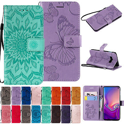 For Samsung Galaxy S10 5G A30 A50 A20 Magnetic Leather Wallet Phone Case Cover