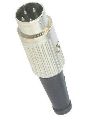 610-0400 Plug; DIN; male; PIN: 4; Pin layout: 216°; straight; for cable; 34V