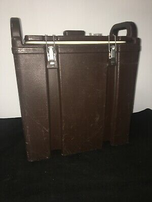 Cambro Brown Insulated Soup/Beverage Carrier 350LCD 3.3/8 Gallon Capacity. #13