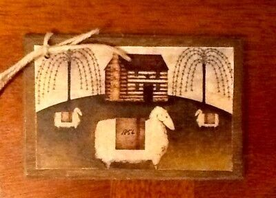 5 Wooden Colonial Art Ornaments//PRIM HangTags//BowlFillers Early American SET9