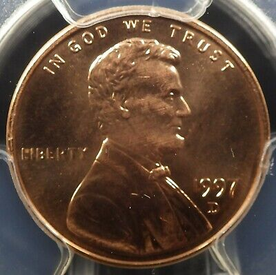 1997-D Lincoln Memorial Cent PCGS graded MS67RD