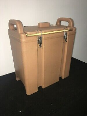 Cambro Tan Insulated Soup/Beverage Carrier 350LCD 3.3/8 Gallon Capacity. #17