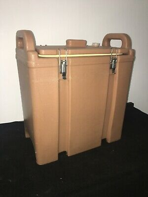 Cambro Tan Insulated Soup/Beverage Carrier 350LCD 3.3/8 Gallon Capacity. #19