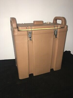 Cambro Tan Insulated Soup/Beverage Carrier 350LCD 3.3/8 Gallon Capacity. #20