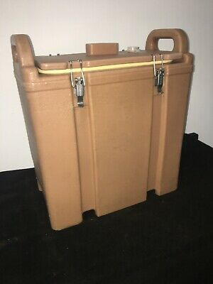 Cambro Tan Insulated Soup/Beverage Carrier 350LCD 3.3/8 Gallon Capacity. #21