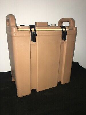 Cambro Tan Insulated Soup/Beverage Carrier 350LCD 3.3/8 Gallon Capacity. #23