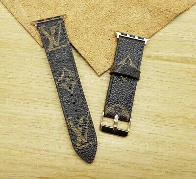 Handmade Louis Vuitton Apple watch band Series 1, 2, 3, 4, Apple iwatch strap