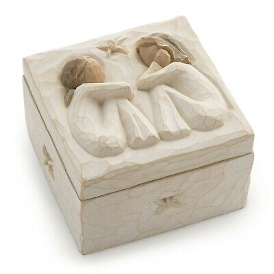 Willow Tree hand-painted sculpted Keepsake Box, Friendship