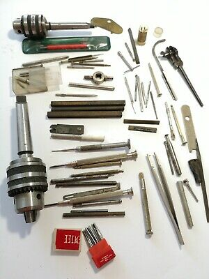 Job Lot Vintage Watchmakers Tools Inc Screwdrivers Drill Bits For A Large Drill