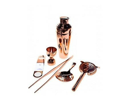 Kit Barman 6 Pieces Copper Colour Vintage Lumian Black01 Bartender