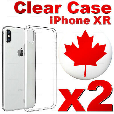 For iPhone XR - Superior Clear Soft Transparent TPU Case - Best Quality (2 PACK)