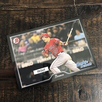 MIKE TROUT 2019 Topps On Demand INSPIRED BY 55 BOWMAN ROOKIE DEBUTS /217 SP 🔥🔥