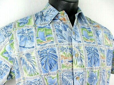 1ac2234f Cooke Street Reverse Print Aloha Shirt Men's size XL Made in Hawaii 100%  Cotton