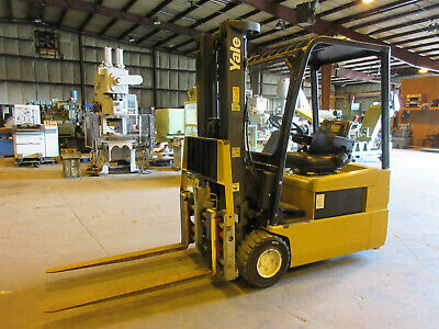 Yale 4,200 Lbs. Electric Forklift & Charger Newly Referbished Battery 48 Vdc