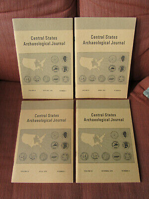 COMPLETE SET OF 4 1978 The Central States Archaeological Journal / BANNERSTONE