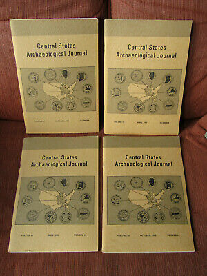 COMPLETE SET OF 4 1982 The Central States Archaeological Journal / BANNERSTONE