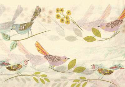 Pastel BIRDS on White Tissue Paper #251 ~ 10 Large Sheets