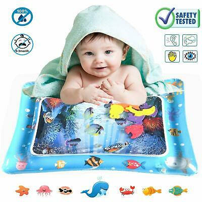 Baby Water Play Mat Inflatable Patted Pad Tummy Time Water Cushion Activity Baby