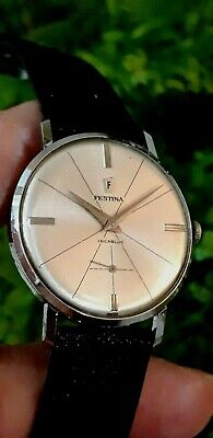 Rare Vintage Festina Sputnik Swiss Watch For Men Art Deco 1960.Montre Ancienne
