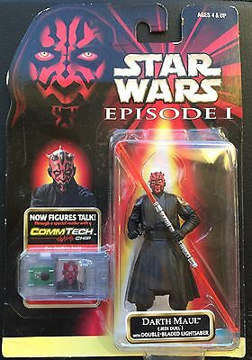 Darth Maul Double-Bladed: Hasbro Star Wars Episode 1 Figure - CommTech MOC 1998