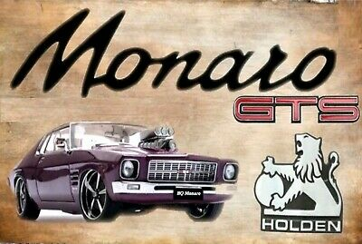 Holden Street machine GTS coupe Monaro HQ tin metal sign MAN CAVE brand new