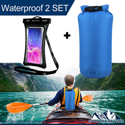 For Beach Kayak Camping Backpack 8L Waterproof Dry Bag+Floating Phone Case Pouch