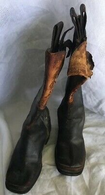 Antique Civil War Childs Cavalry Boots 1800's Hand Made