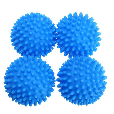 4Pcs Blue Laundry Washing Tumble Dryer Balls Washing Helper Clothes Softener