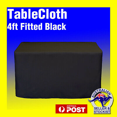 Tablecloths Wedding FITTED Rectangle Table Cloth 4ft Black Event Market Trestle