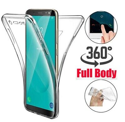 Samsung Galaxy S9 S10 Plus S8 360°Shockproof Full Soft Clear Silicone Case Cover