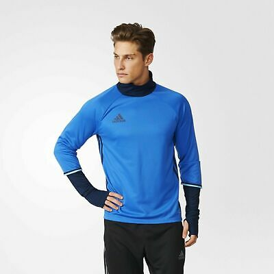 572940f92002 Adidas Condivo 16 Soccer ClimaLite Long Sleeve Training Top T-Shirt Mens  Running