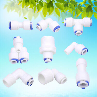 Plastic Hose Pipe Fitting Tube Connector Joiner Silicone Rubber PVC Air Water ec