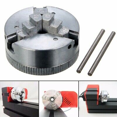 3 Jaw Self Centering Lathe Chuck M12*1 45mm For Mini 6 in 1 Lathe & 2x Lock Rods
