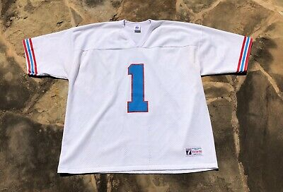 c1246d28 Vintage Warren Moon Houston Oilers Logo 7 Football Jersey Cactus Jack Size  2XL