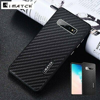 iMatch Metal Bumper Carbon Fiber Cover For Samsung Galaxy S10 Plus Note 9 S9 +